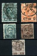3673- Italia Nº  49/50, 52/3, 70 - 1900-44 Victor Emmanuel III