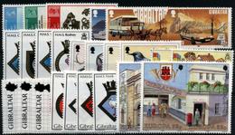 3667- Gibraltar Nº  549/51, 555/6, 573/4, 578/84, 599/6 - Gibilterra