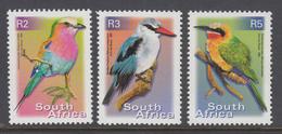D110713 South Africa  2000 Birds KING FISHER BEE-EATER Definitive MNH X 3 - Afrique Du Sud Afrika RSA Sudafrika - South Africa (1961-...)