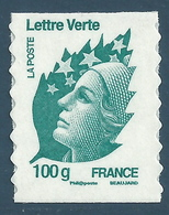 YT A606 - Marianne De Beaujard - Lettre Verte 100g - France