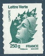 YT A607 - Marianne De Beaujard - Lettre Verte 250g - Adhésifs (autocollants)