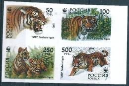 B2274 Russia Rossija 1993 Tiger 4v Se-tenant Colour Proof - 1992-.... Federación