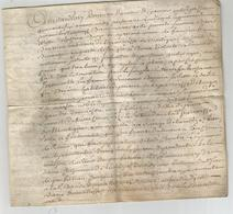 GENERALITE DE BORDEAUX , 1746 : ACTE DE DONATION SUR PEAU - Manuscripten