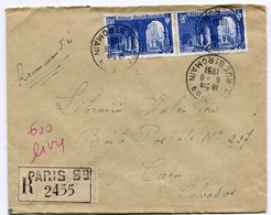 PARIS 89 Rue Saint Romain  Env. Recom. De 1951    Avec Dateur  A 7 - Marcophilie (Lettres)