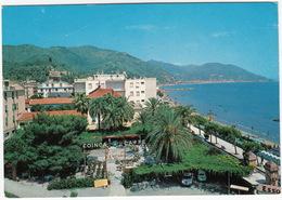 Laigueglia: LANCIA FLAVIA COUPÉ, FIAT 600, 'ESSO' NEON, SERVICE-STATION- - 'Coinca Caffe Dancing' -  (Italia) - Voitures De Tourisme