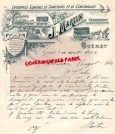 23 - GUERET - RARE BELLE FACTURE J. MARTIN - ENTREPRISE DEMENAGEMENTS -TRANSPORTS ET CAMIONNAGES-1902 - Transport