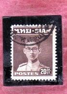 THAILANDE THAILAND TAILANDIA 1947 1949 KING Bhumibol Adulyadej RE 20s USATO USED OBLITERE' - Tailandia