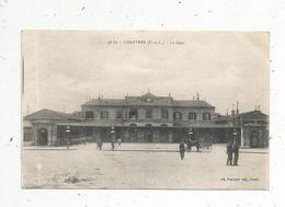Cp , Chemin De Fer , La Gare , Attelage , 28 , CHARTRES , Voyagée 1919 , F.M. - Gares - Sans Trains