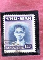 THAILANDE THAILAND TAILANDIA 1947 1949 KING Bhumibol Adulyadej RE 1b USATO USED OBLITERE' - Tailandia