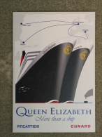 CUNARD QUEEN ELIZABETH AND VICTORIA-DELIVERY CEREMONY CARD FOR QE 2010 - Steamers