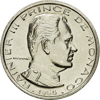 Monnaie, Monaco, Rainier III, 1/2 Franc, 1965, Paris, ESSAI, FDC, Nickel - Monaco