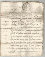 GENERALITE DE BORDEAUX , 1748 : ACTE DE VENTE - Manuscripten