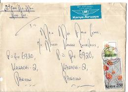 Kenya Airmail Cover 1983 Medicinal Herbs Of Kenya Terminalia Orbicularis 2.50 Sh, Barleria Eranthemoides 30 C - Medicine
