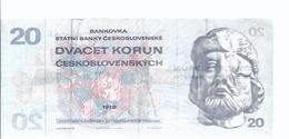 Tschechoslowakei 20 Korun 1970-  AK-14.032 - Tchécoslovaquie