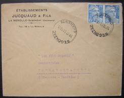 La Nerolle-Segonzac (Charente)1951 Établissements Jucquaud & Fils - Marcophilie (Lettres)