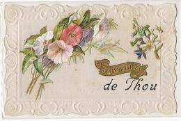 Thou  Carte Chromo Anniversaire Envoi Marie Jolly Aux Collissons Dammarie En Puisaye Bonny - France