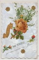 Une Pensée De Thou   Carte Chromo  Envoi  Jolly Aux Collissons Dammarie En Puisaye Bonny - France