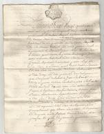 GENERALITE DE BORDEAUX , 1759 : ACTE DE VENTE DE TERRE A SOULIGNAC - Manuscripten