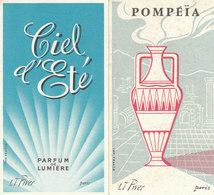 2 Cartes Parfumées, L T PIVER 1 Carte Pompéïa 1 Carte Ciel D'été - Perfume Cards