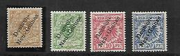Anciennes Colonies Allemandes    Nouvelle Guinée   1896    Cat YT N°1  à   4      N*, MLH - Kolonie: Marshall-Inseln
