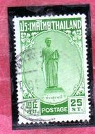 THAILANDE THAILAND TAILANDIA 1955 TAO SURANARI LADY MO 25s USATO USED OBLITERE' - Tailandia