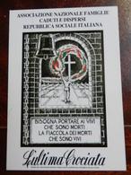 18360) CALENDARIO 2005 ASSOCIAZIONE FAMIGLIE CADUTI E DISPERSI REPUBBLICA SOCIALE ITALIANA - Formato Piccolo : 2001-...