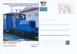 Rep. Ceca / Cart. Postali (Pre2012/41) Ferrovia A Scartamento Ridotto Industr-ferrovia Di Barbabietola Da Zucchero Kolin - Alimentazione