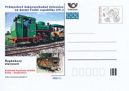 Rep. Ceca / Cart. Postali (Pre2012/42) Ferrovia A Scartamento Ridotto Industr-ferrovia Di Barbabietola Da Zucchero Kolin - Vegetazione