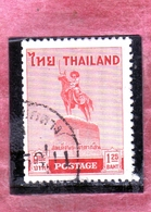 THAILANDE THAILAND TAILANDIA 1955 KING TAKSIN STATUE AT THONBURI 1.25b USATO USED OBLITERE' - Tailandia