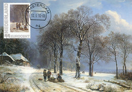 D34953 CARTE MAXIMUM CARD 2010 NETHERLANDS - WINTER LANDSCAPE BY BAREND KOEKKOEK 1838 CP ORIGINAL - Art