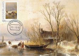 D34954 CARTE MAXIMUM CARD 2010 NETHERLANDS - ICE VIEW BY A. SCHELFHOUT 1849 CP ORIGINAL - Art