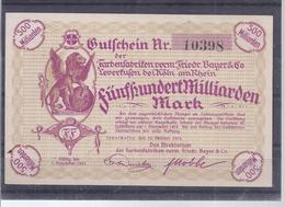 Leverkusen  - Frierdr. Bayer AG  - 500 Milliarden Mark - 1923  -  AK-14.071 - [11] Local Banknote Issues