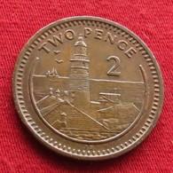 Gibraltar 2 Pence 1990 AB KM# 21  Gibilterra - Gibraltar