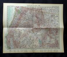 Carte Des USA, Oregon, Idaho, Washington, Edition:1930. - Cartes Géographiques