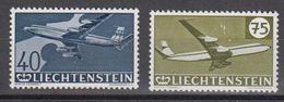 Liechtenstein 1960 Airmail / 30J. Flugpostmarken 2v  Some Faults (see Scan)(40+75Rp) ** Mnh  (40431) - Poste Aérienne