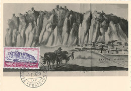 D34957 CARTE MAXIMUM CARD 1958 SAN MARINO - MONTE TITANO - 300 LIRE CP ORIGINAL - Other