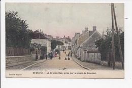 CPA 91 SAINT CHERON La Grande Rue Prise Sur La Route De Dourdan - Saint Cheron
