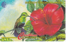 TARJETA DE ISLAS VIRGENES DE UN COLIBRI 25CVBA - Virgin Islands