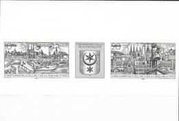 1990 DDR Mi.3338-9 **MNH Schwarzdruck Briefmarkenausstellung Der Jugend, Halle. - DDR