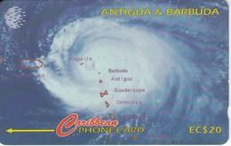 TARJETA DE ANTIGUA & BARBUDA DE UN HURACAN (HURRICANE) 54CATF - Antigua And Barbuda