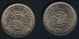 Cap Verde, 5 Escudos 1968, UNC - Cape Verde