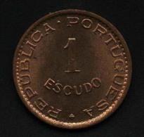 Cap Verde, 1 Escudo 1968, UNC - Cape Verde