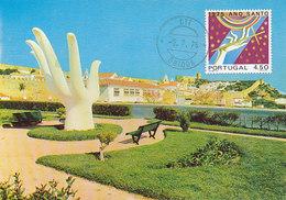 D34960 CARTE MAXIMUM CARD 1976 PORTUGAL - OBIDOS MONUMENT HAND CP ORIGINAL - Monuments