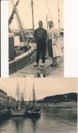 Lot De 2 Photos Amateur - 29 AUDIERNE Août 1956 - No CPA - Audierne