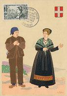 D34964 CARTE MAXIMUM CARD FD 1960 FRANCE - SAVOIE COSTUMES FOLKLORE CP ORIGINAL - Costumes