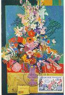 D34965 CARTE MAXIMUM CARD FD 1963 FRANCE - FLEURS FLOWERS BLUMEN MIX CP ORIGINAL - Plants