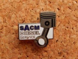 Pin's - SACM - DIESEL SERVICE - SOCIETE ALSACIENNE DE CONSTRUCTION MECANIQUE - HAUT RHIN 68 - Other