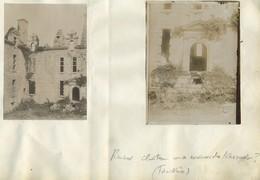2 Photos. Ruines D'un Château Aux Environs De Kersaint-Plabennec. Finistère. Vers 1900. Bretagne. - Places