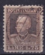 LOTTO REGNO A61  VITTORIO EMANUELE III 1,75 LIRE DEL 1927 - Usati