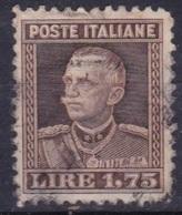LOTTO REGNO A63  VITTORIO EMANUELE III 1,75 LIRE DEL 1927 - Usati